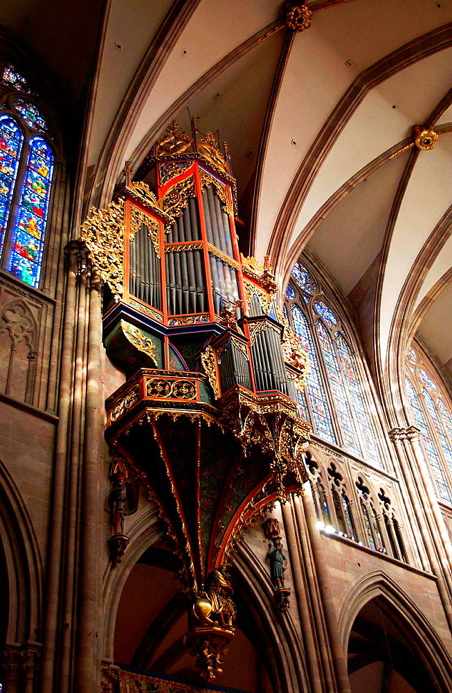 Cathedral of Strasburg, Alsace in France.