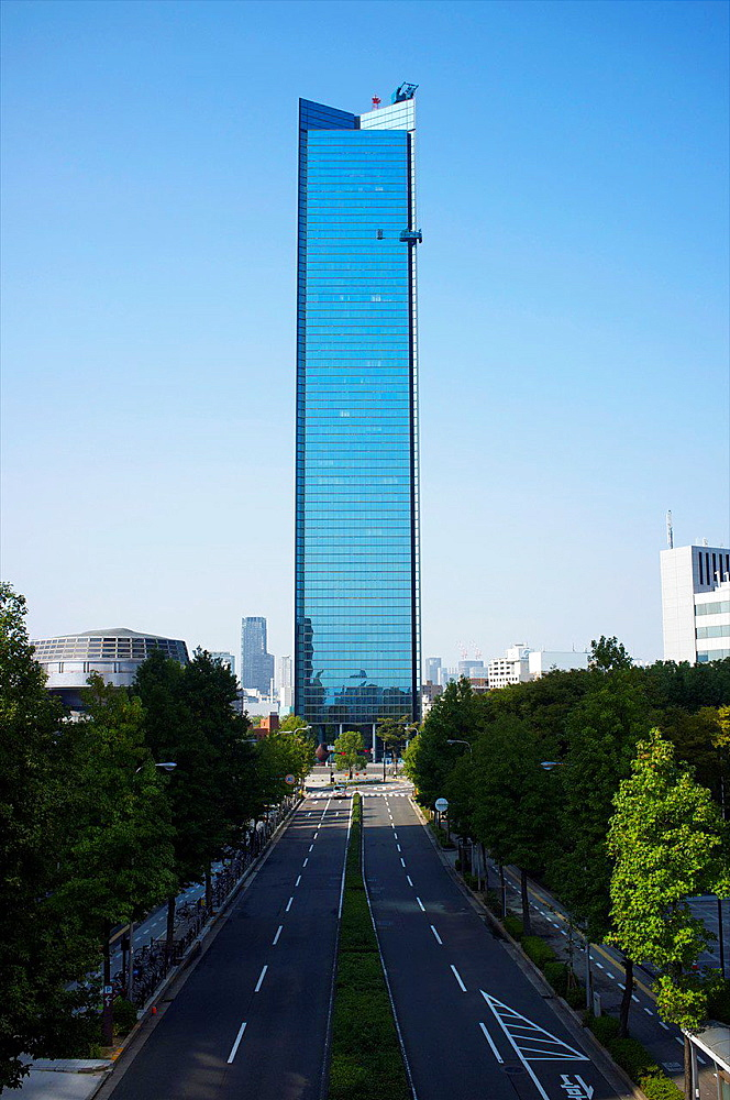 Crystal Tower Building, Osaka, Kansai, Japan.