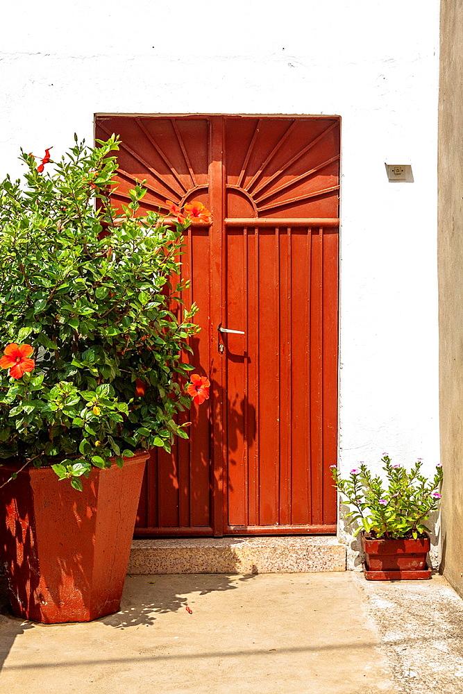 Door in Vela Luka town on Korcula island, Croatia.