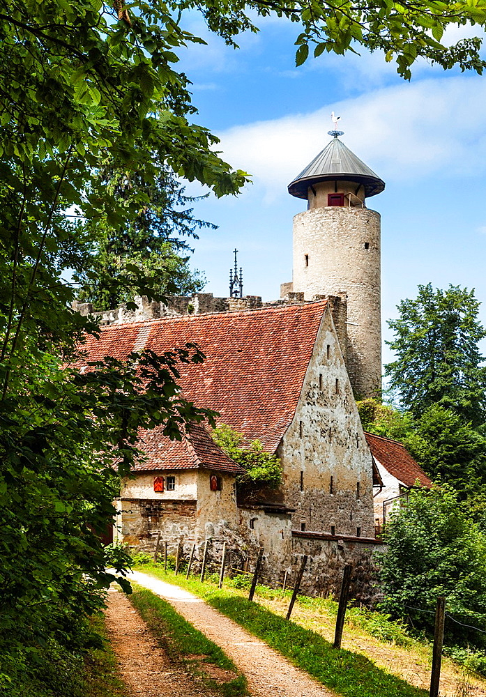 """Birseck Castle (Burg Birseck) is located in the municipality of Arlesheim in the canton of Basel-Country. Birseck Castle is also called """"Untere Burg Birseck"""" or """"Vordere Burg Birseck"""" and is one of four castles on a slope called Birseck that confines the plain of the Birs river."""