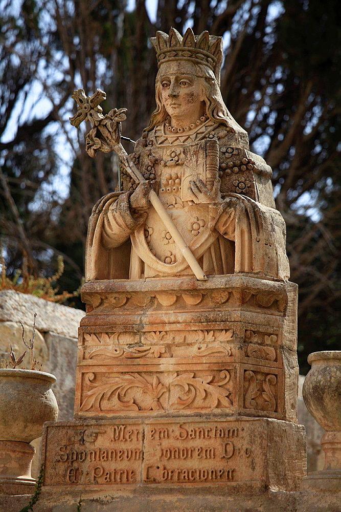 Malta, Rabat, St Agatha statue.