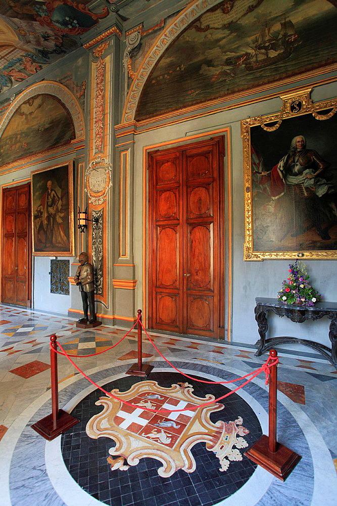 Malta, Valletta, Grand Master's Palace, State Apartments.