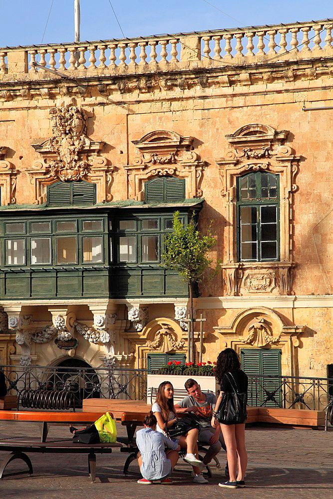 Malta, Valletta, St George's Square, people.