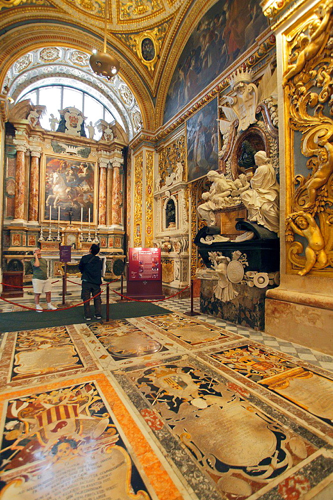 Malta, Valletta, St John's Co-Cathedral, interior.