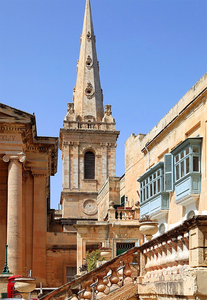 Malta, Valletta, St Paul's Pro-Anglican Cathedral.