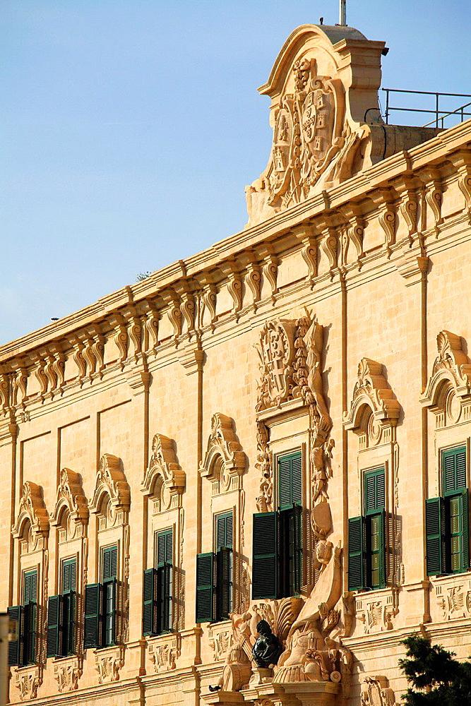 Malta, Valletta, Auberge de Castille, Prime Minister's Office.