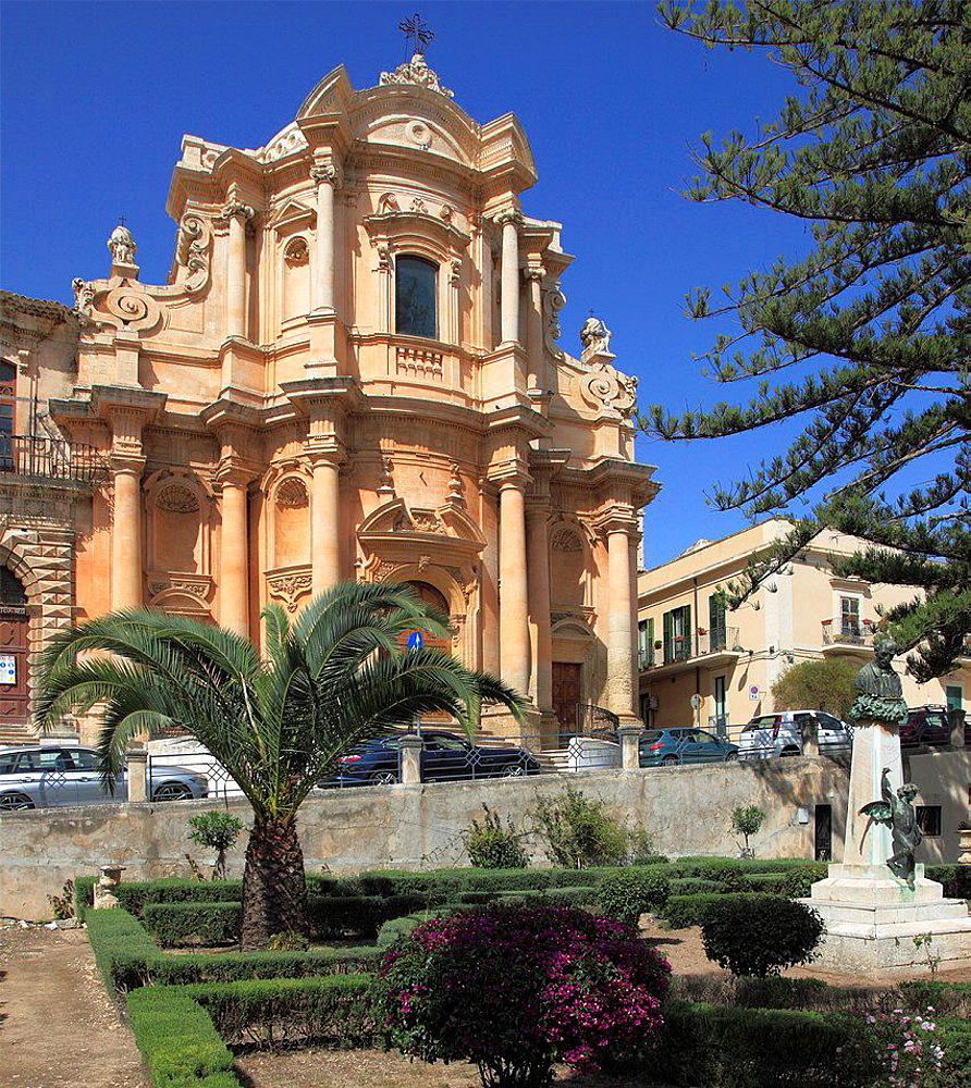 Italy, Sicily, Noto, San Domenico Church.