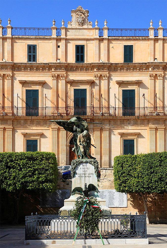 Italy, Sicily, Noto, Palazzo Landolina.