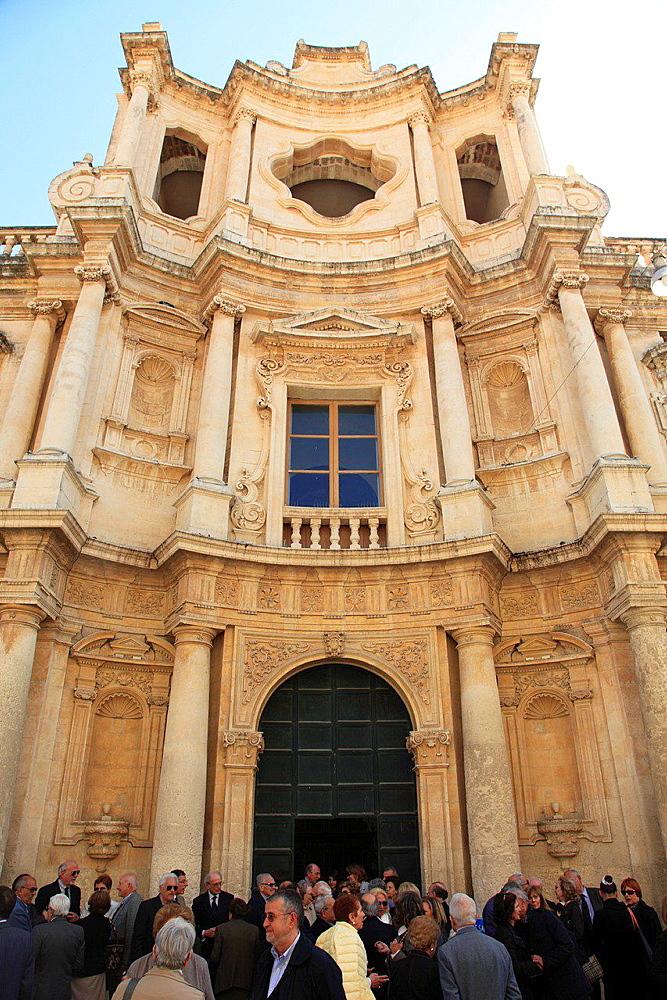 Italy, Sicily, Noto, San Carlo Church.