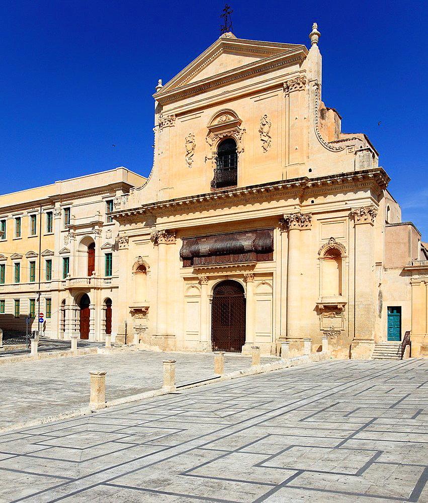 Italy, Sicily, Noto, San Santissimo Salvatore Church.