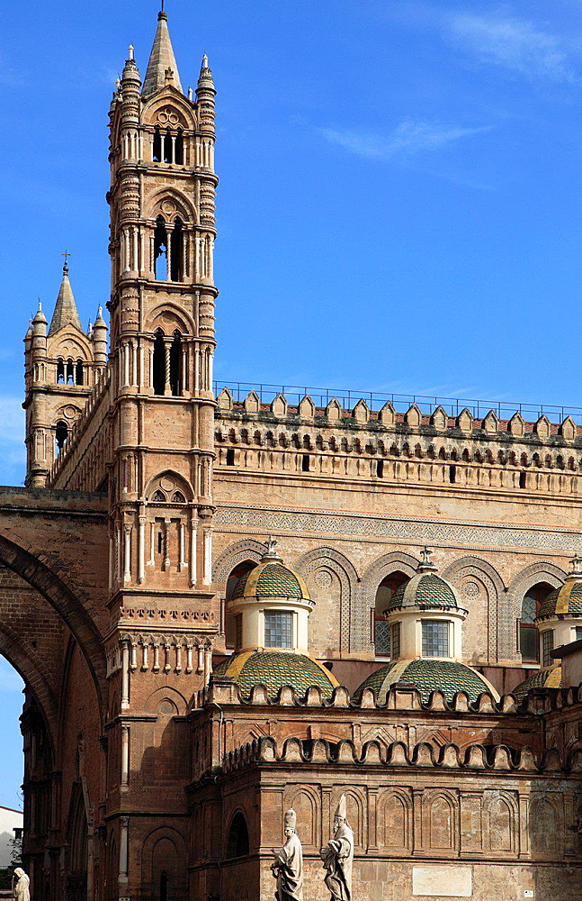 Italy, Sicily, Palermo, Cathedral.