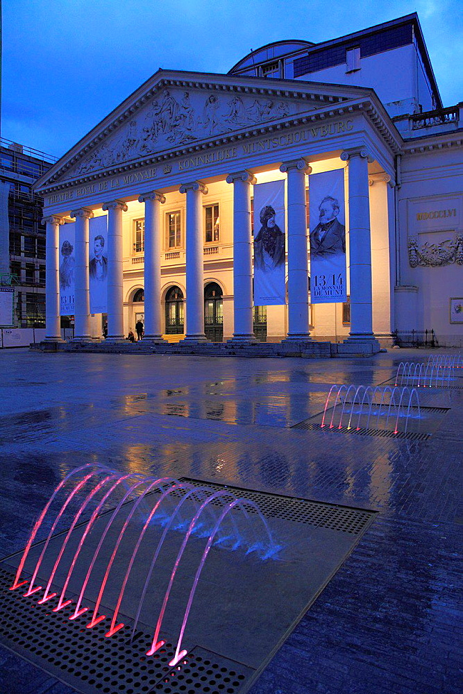Belgium, Brussels, Theatre de la Monnaie.