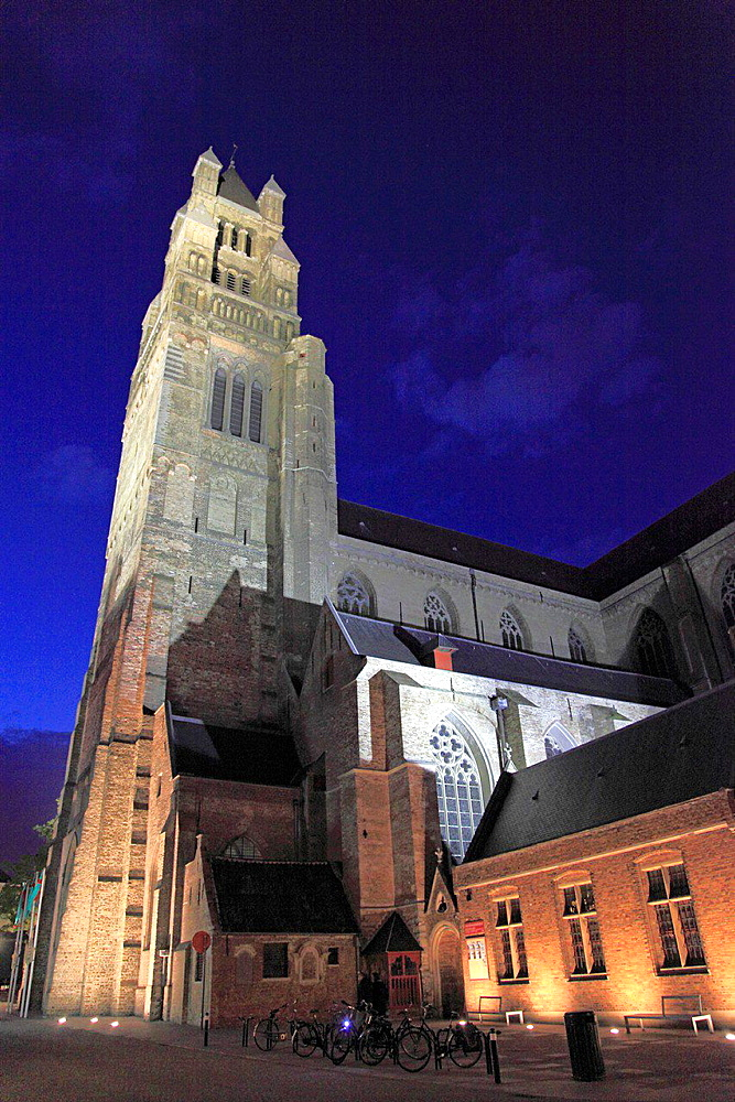 Belgium, Bruges, St Saviour's Cathedral.