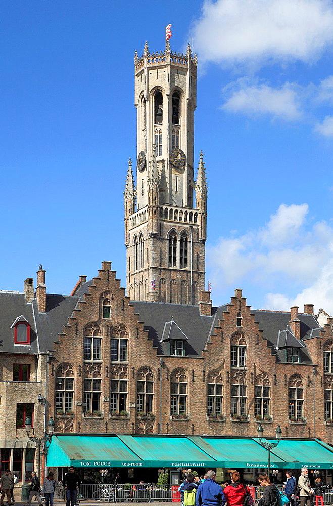 Belgium, Bruges, Burg, Belfry.