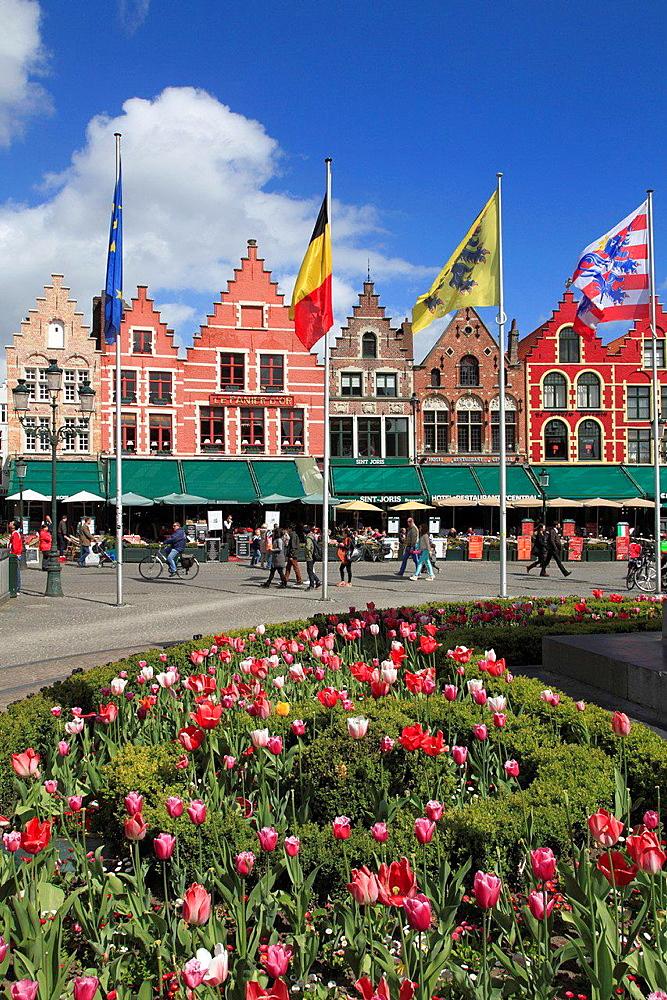 Belgium, Bruges, Markt, Main Square.