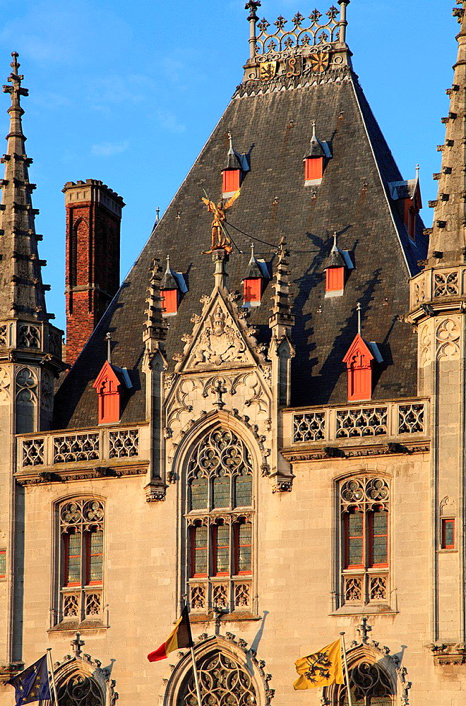 Belgium, Bruges, Markt, Main Square, Provincial Court.