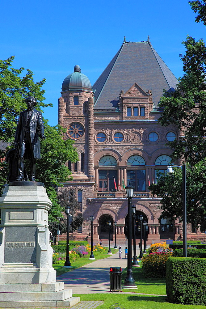 Canada, Ontario, Toronto, Queen's Park, Legislative Building,.