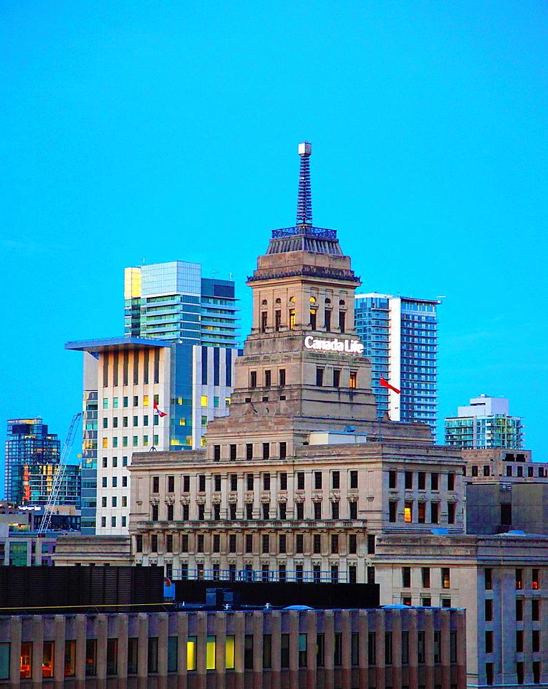 Canada, Ontario, Toronto, Canada Life Building,.
