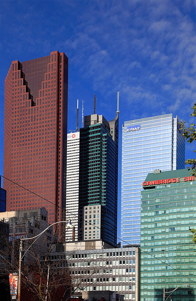 Canada, Ontario, Toronto, Financial District, skyscrapers,.