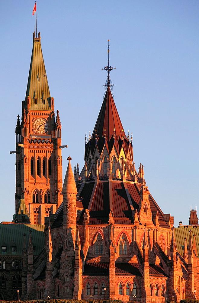 Canada, Ontario, Ottawa, Parliament, Parliamentary Library,.