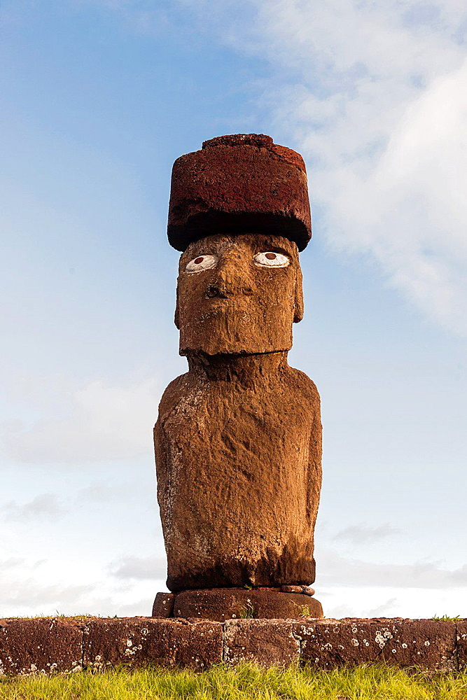Ahu taha in easter island.