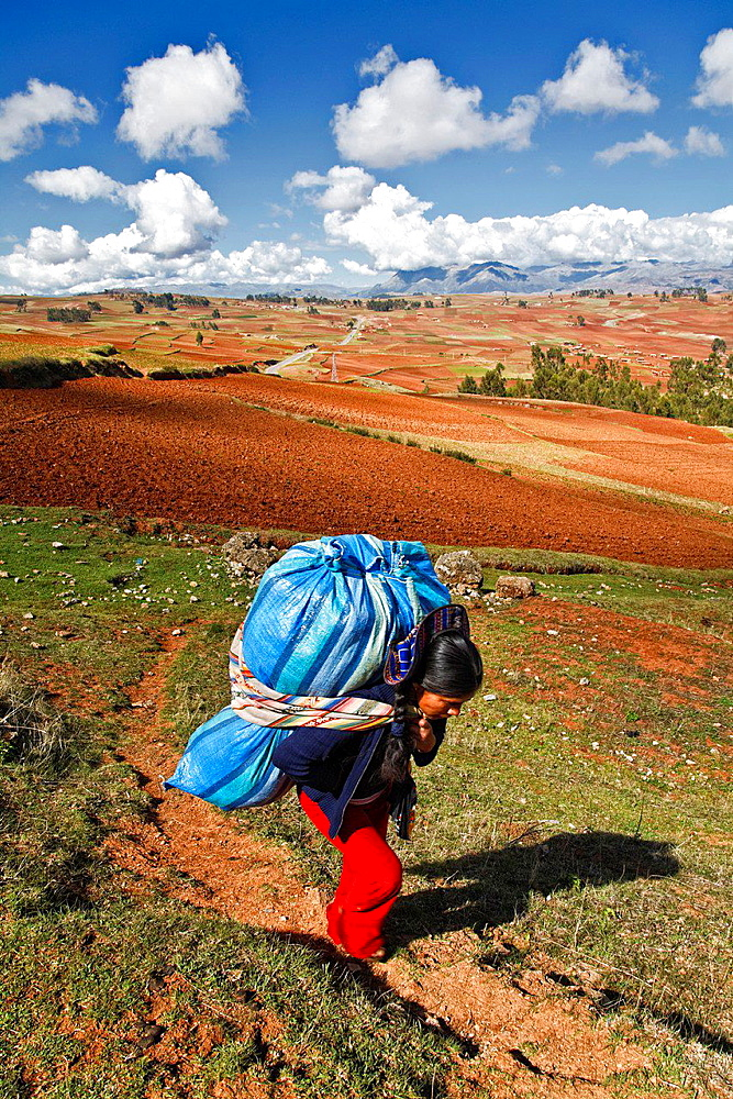 Sacred valley in peru.