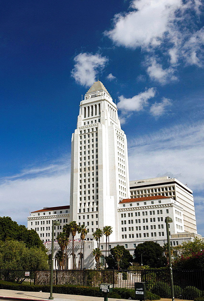 Los Angeles City Hall, downtown Los Angeles, California, United States of America.