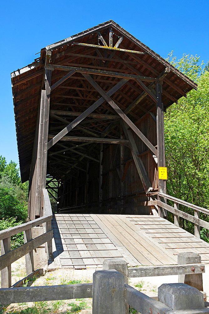 Felton Covered Bridge, Felton, California, United States of America.