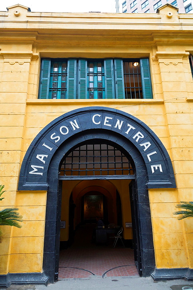 Entrance to the Hoa Lo Prison, aka Hanoi Hilton, in Hanoi, Vietnam.