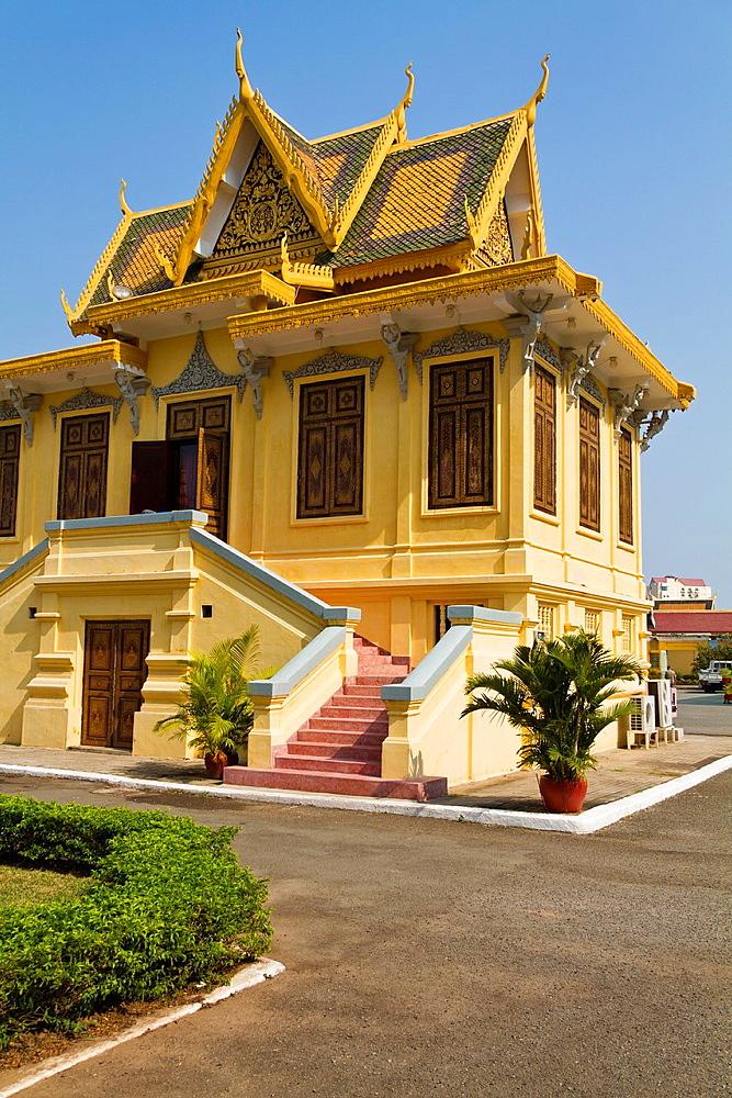 The Royal waiting Room Hor Samran Phirun in Phnom Penh, Cambodia.