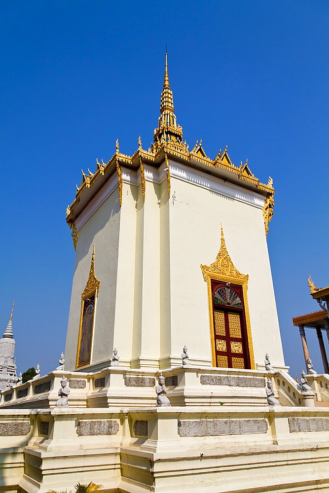 Library of the Royal Palace in Phnom Penh, Cambodia.