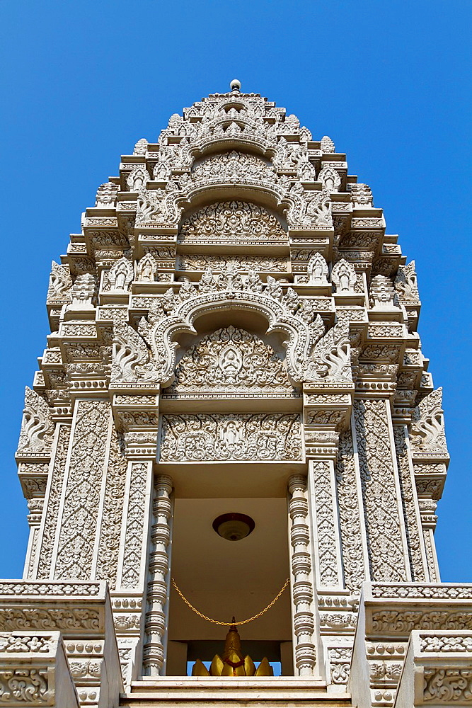 Stupa of Princess Kantha Bopha in the Royal Palace in Phnom Penh, Cambodia.