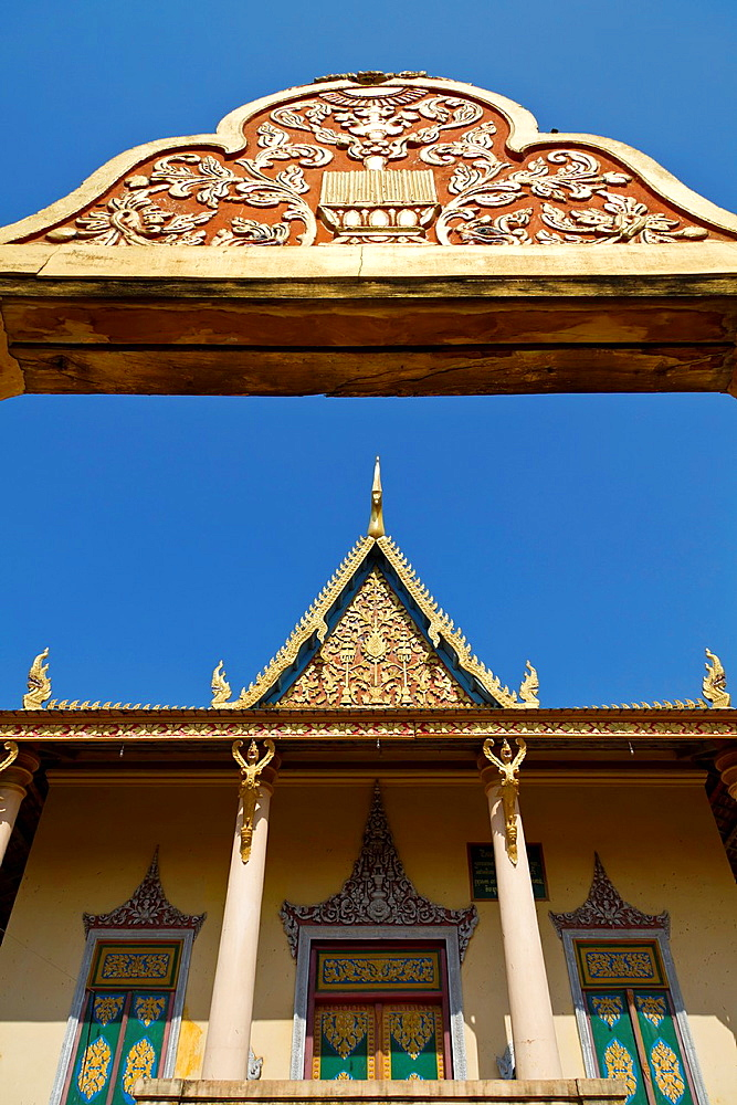 The Temple Wat Sarawan in Phnom Penh, Cambodia.