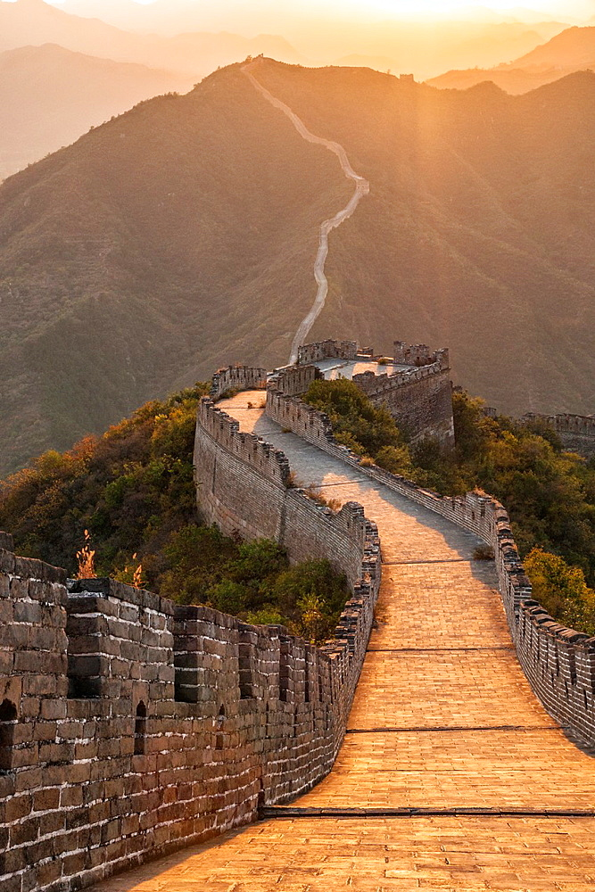 Great Wall of China at Huanghua Cheng or Yellow Flower, Xishulyu, Jiuduhe Zhen, Huairou, China.