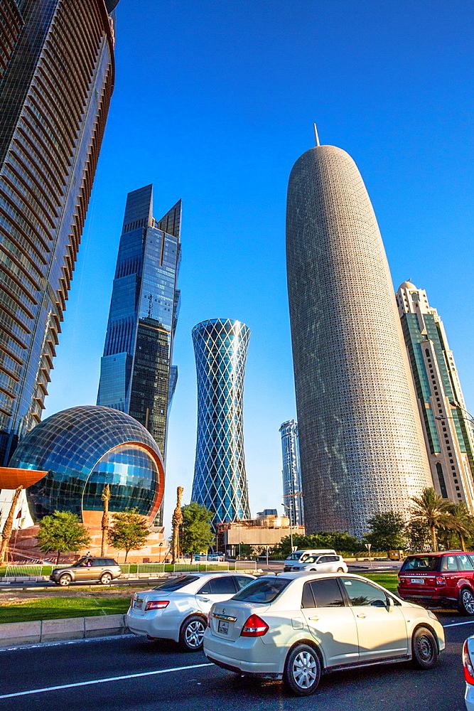 Qatar, Doha City, Tornado Bldg. Center.