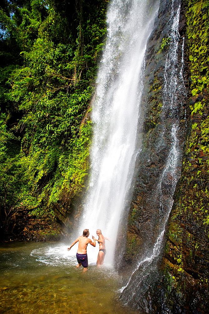 Kaeng Nyui Waterfalls in Vang Vieng, Laos.