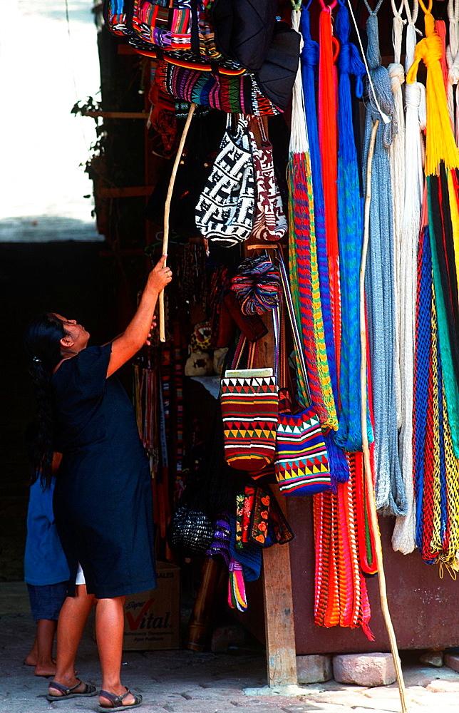 Craft shop, Mexico.