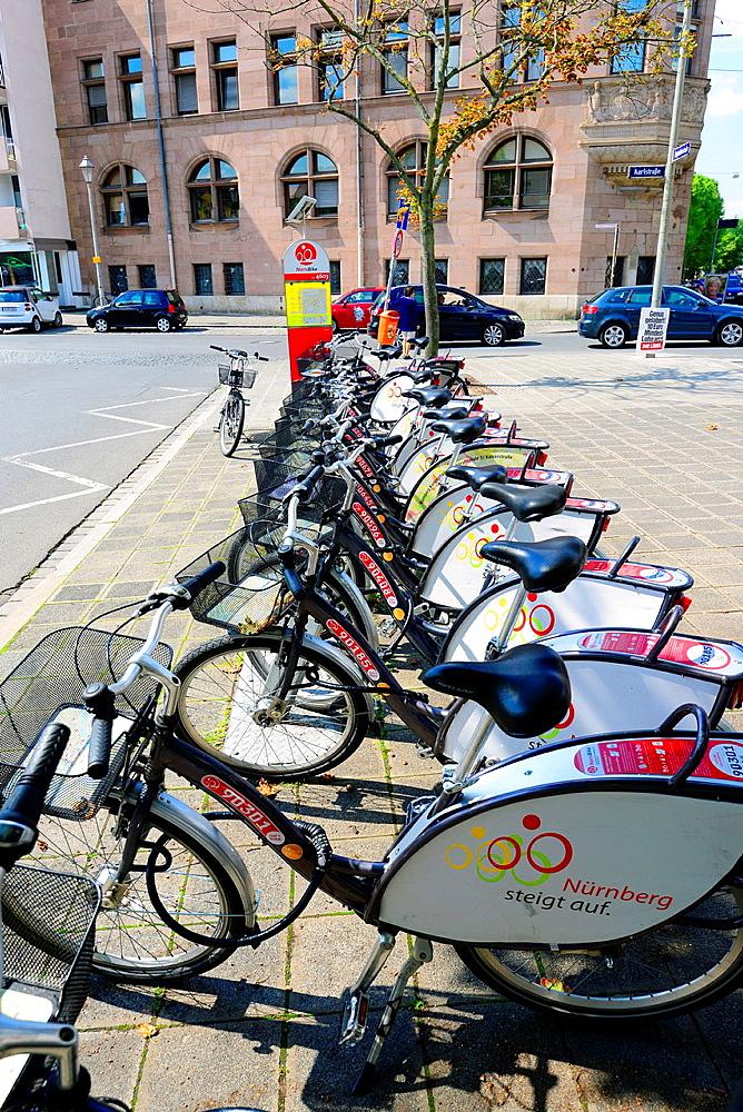 Bicycle Rentals Nuremberg Nurnberg Germany Deutschland DE.
