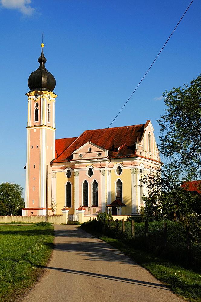Baroque church in Pless / Lower Allgau