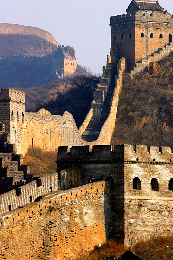 China, Hebei, China Great Wall from Jinshanling, built in 1570 in the Ming Dynasty, listed as World Heritage by UNESCO