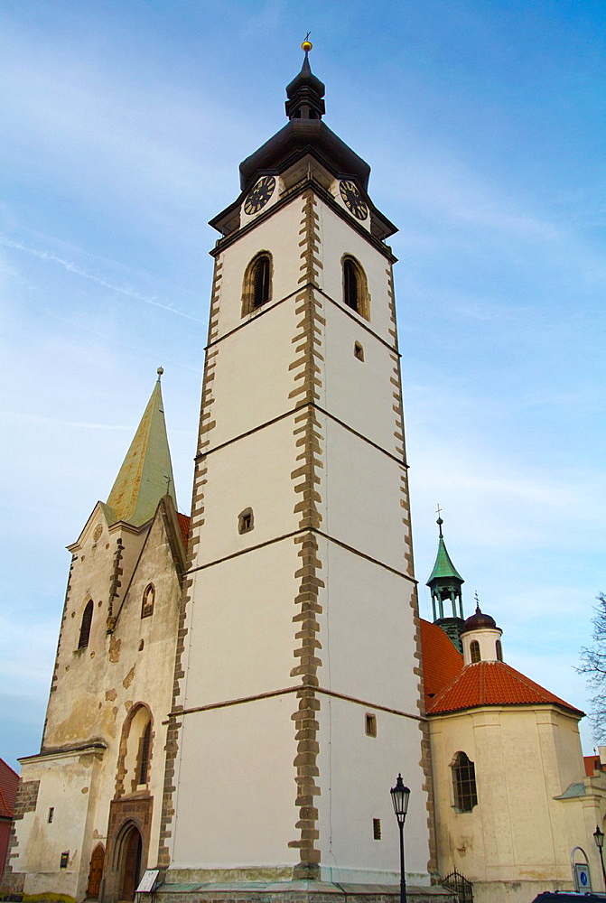 Kostel Narozeni Panny Marie church Pisek town South Bohemia region Czech Republic Europe.