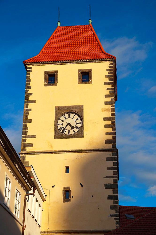 Prazska brana tower Melnik central Bohemia region Czech Republic Europe.
