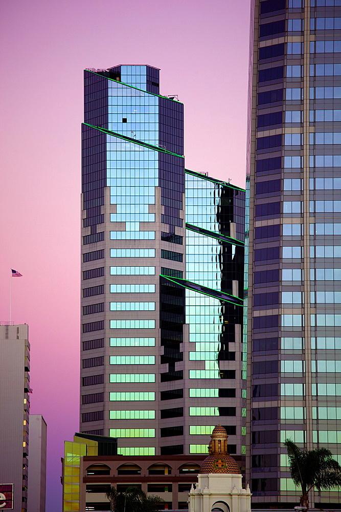Sunset in San Diego, California, USA
