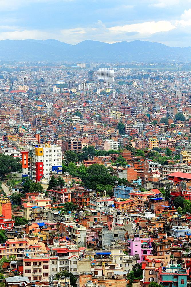 Cityscape from Swayambhunath, Kathmandu, Nepal.