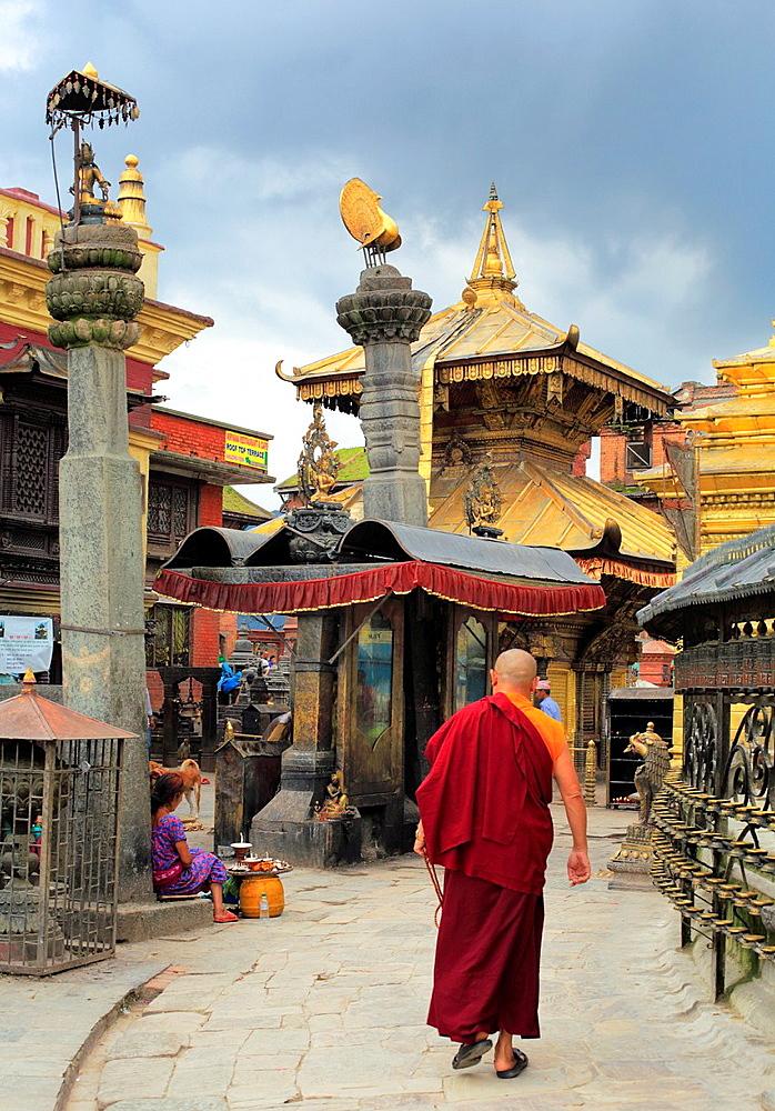 Stupa Swayambhunath, Kathmandu, Nepal.