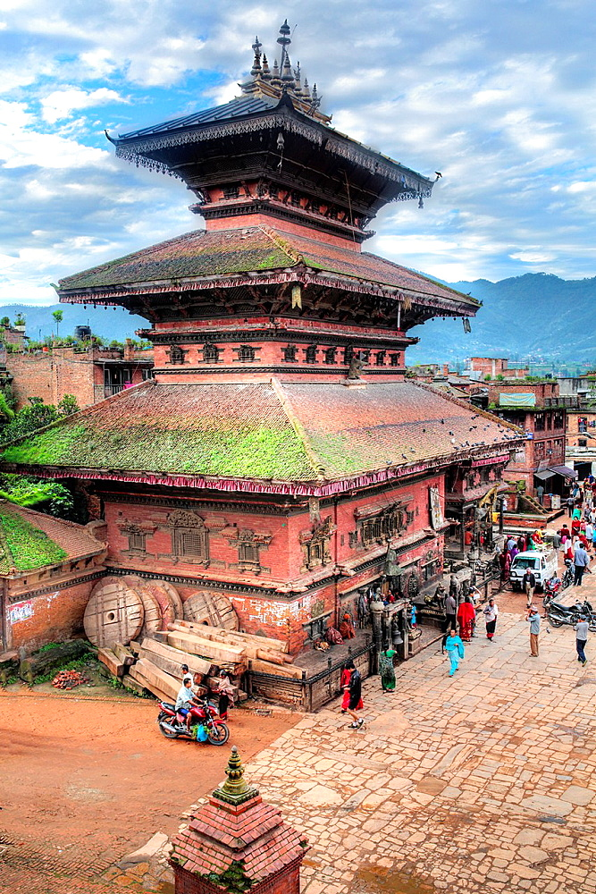 Bhairab Nath Temple, Taumadhi square, Bhaktapur, Nepal.