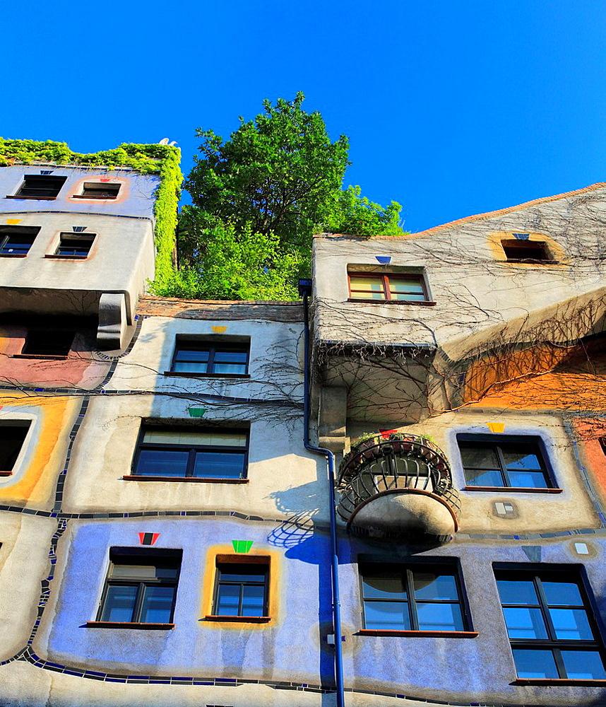 Hundertwasserhaus, apartment house, Vienna, Austria.