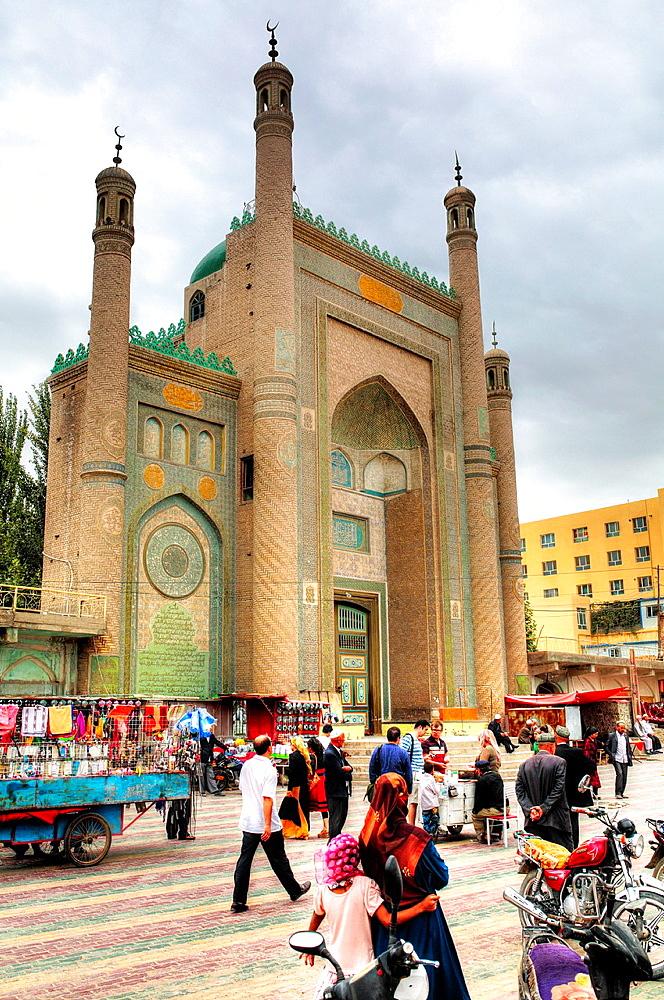 Mosque, Karghilik, Kashgar Prefecture, Xinjiang Uyghur Autonomous Region, China.