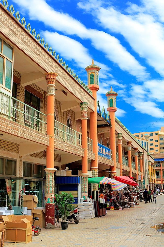 Street in old town, Kashgar (Kashi), Kashgar Prefecture, Xinjiang Uyghur Autonomous Region, China.