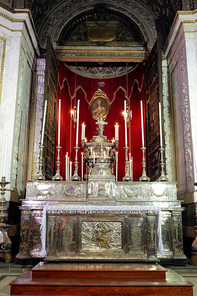 Palermo cathedral interior, Palermo, Sicily, Italy.